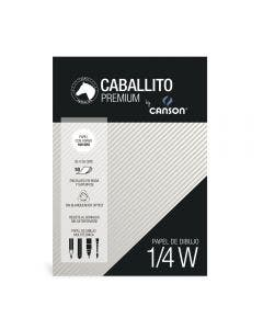 Block Caballito & Canson 1/4 W 180 Grs 10 Hojas