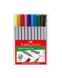 Faber-Castell Marcadores Grip Finepen - 10 Colores