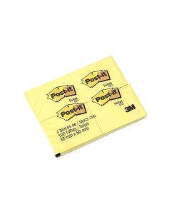Notas Post-It Amarillas Tamaño Chico Pack X 4